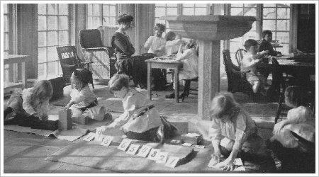 Montessori Classroom in the Early 1900s