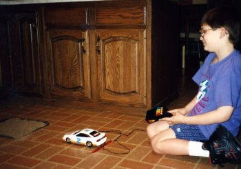 Will (9) and his traction experiment, 1994.