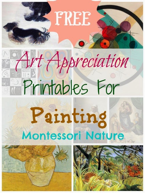 Art Appreciation Printables for Painting (Image from Montessori Nature)
