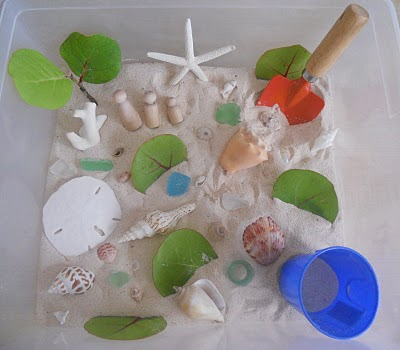 Beach Sensory Tub (Photo from Counting Coconuts)