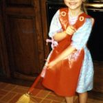 Child-sized materials made cleaning fun for my daughter, Christina, as a preschooler.