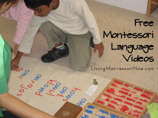 Free Montessori Language Videos