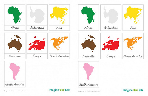 Free Montessori Continent Cards from Imagine Our Life