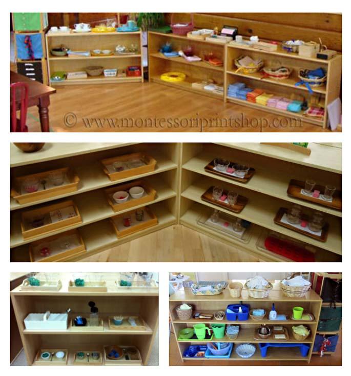 Montessori Practical Life Shelves