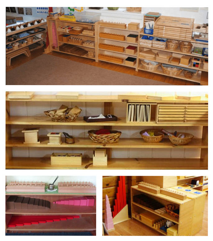 Montessori Sensorial Shelves