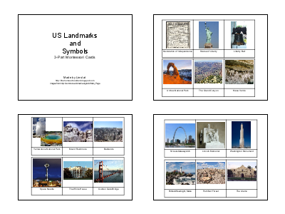US Landmarks and Symbols (Photo from The Homeschool Den)