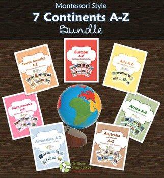 7 Continents A-Z Bundle from Trillium Montessori