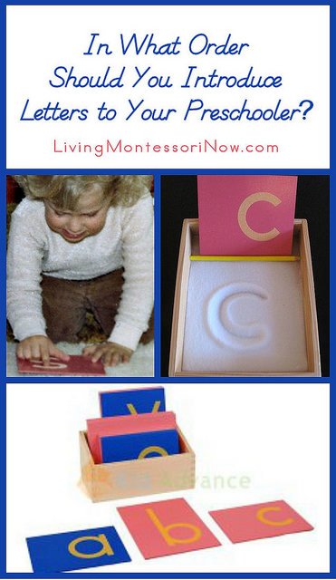 In What Order Should You Introduce Sandpaper Letters to Your Preschooler