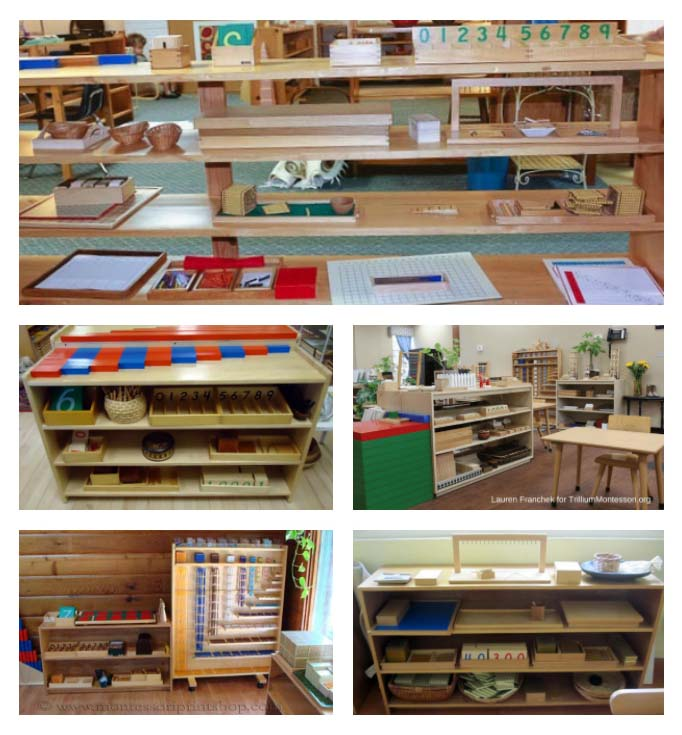 Montessori Math Shelves