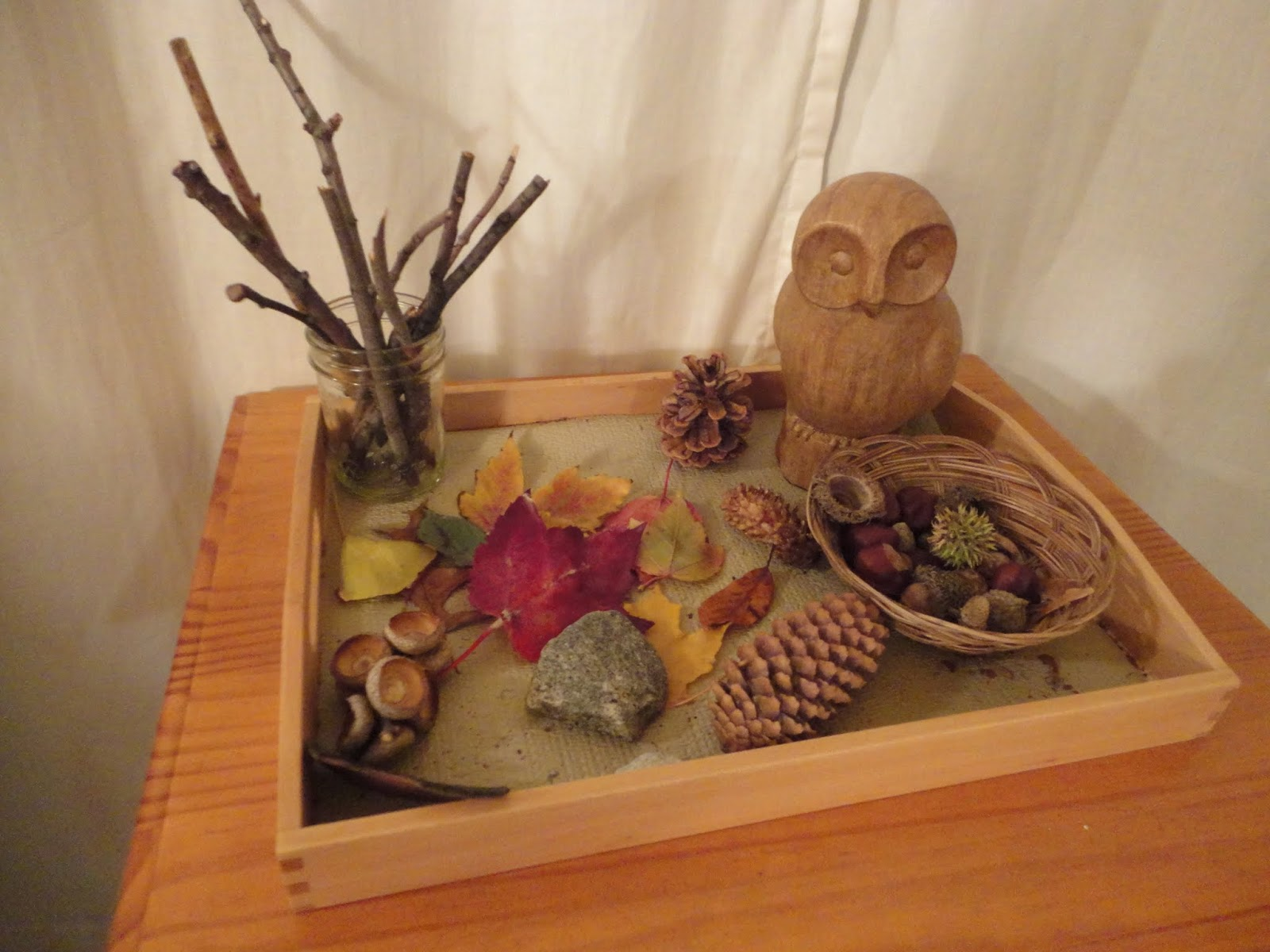 Fall Nature Tray (Photo from Discovery Moments)