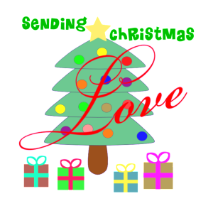 """Sending Christmas Love"" Word-Art Freebie by Deb Chitwood"