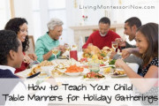 How to Teach Your Child Table Manners for Holiday Gatherings