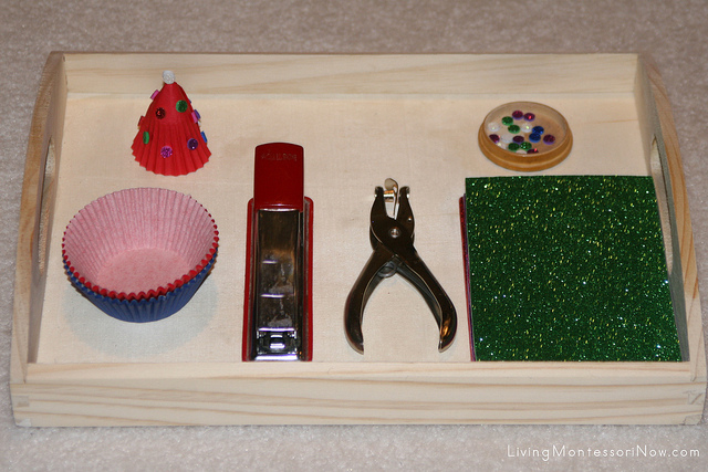 Turning Christmas Crafts into Montessori-Inspired Activities