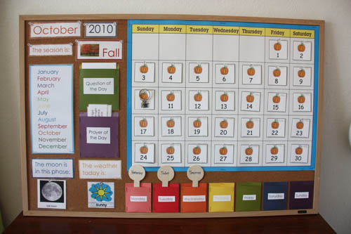 Classroom Calendar (Photo from Counting Coconuts)