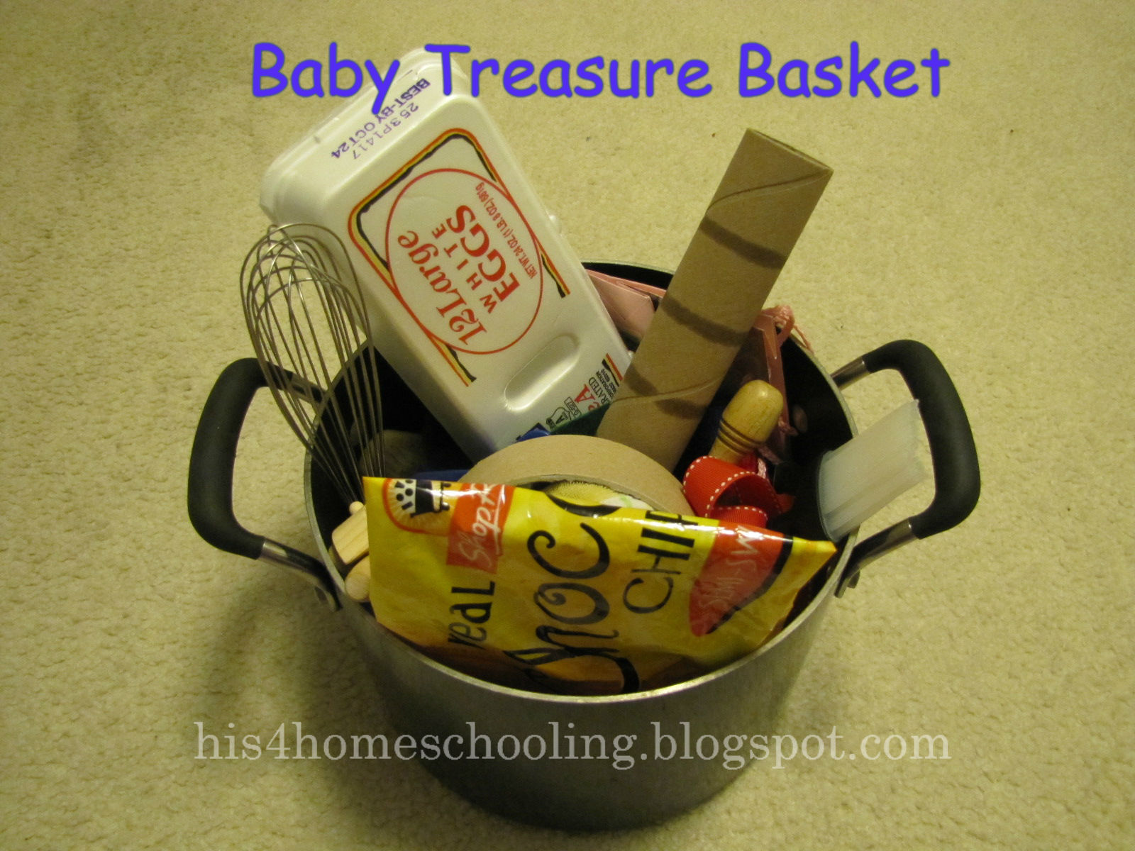 Baby Treasure Basket (Photo from H is for Homeschooling)