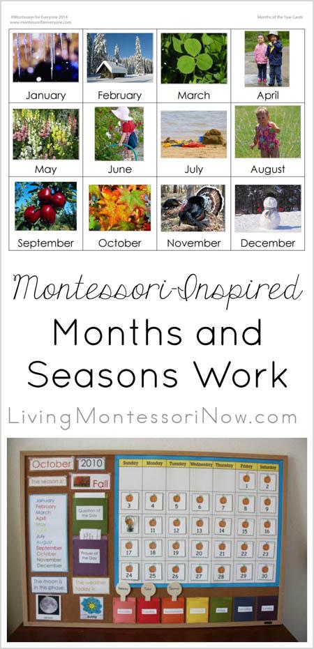 Montessori-Inspired Months and Seasons Work