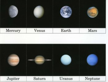 Planet Cards (Image of Free Printable Download Available from Montessori Mom)