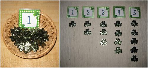 Counting Shamrocks Activity (Photo from Counting Coconuts)