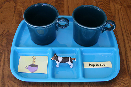 Pup and Cup Activity Using Printable from Seussville
