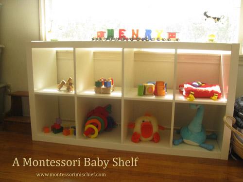 A Montessori Baby Shelf (Photo from Montessori 101)