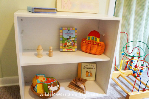 Montessori Baby Shelves from Wildflower Ramblings