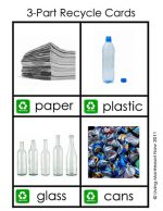 Free Montessori Printable – 3-Part Recycle Cards