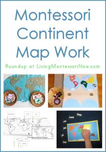 Montessori Continent Map Work