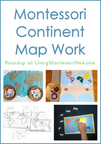 Montessori Continent Map Work