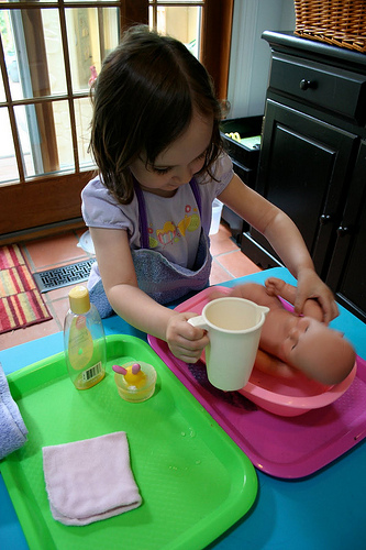 Activity of the Week – Doll Washing