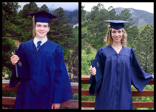 Homeschool High School Graduation Photos - Will, 2002, and Christina, 2006
