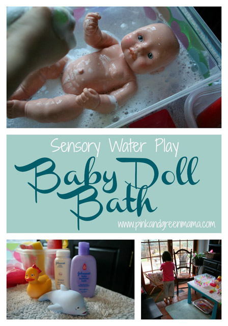 Baby Doll Washing from Pink and Green Mama