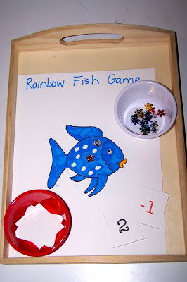 Rainbow Fish Math Game (Photo from The Princess and the Tot)