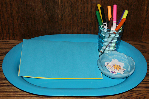 Montessori-Inspired Card-Making Tray