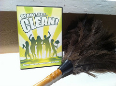 DVD and Feather Duster