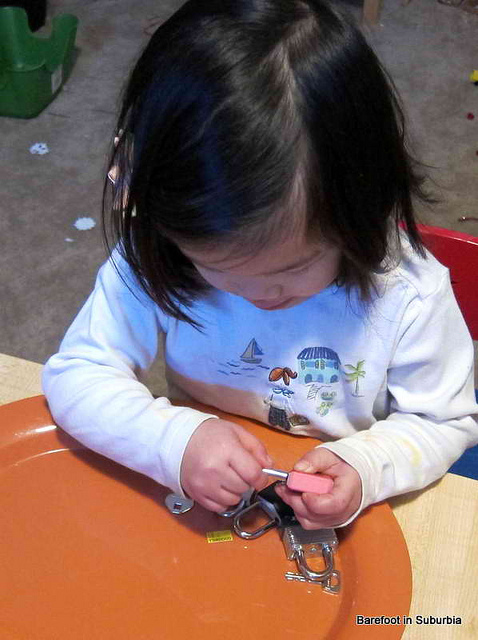 Working with Locks and Keys (Photo from Barefoot in Suburbia)