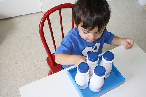 DIY Sound Bottles (Photo from Montessori MOMents)