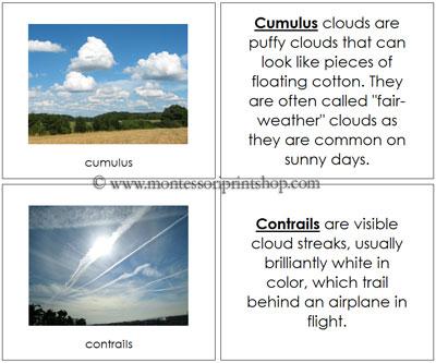 Cloud Nomenclature Book from Montessori Print Shop