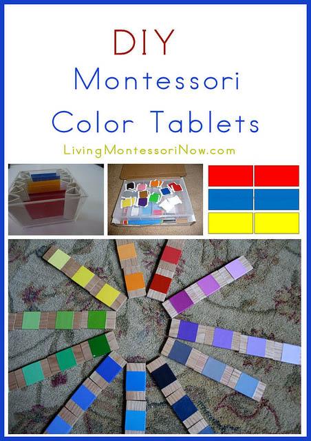 Montessori Monday – DIY Color Tablets