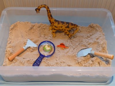 "Dinosaur ""Excavation"" Site (Photo from Family FECS)"
