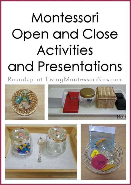 Montessori Open and Close Activities and Presentations
