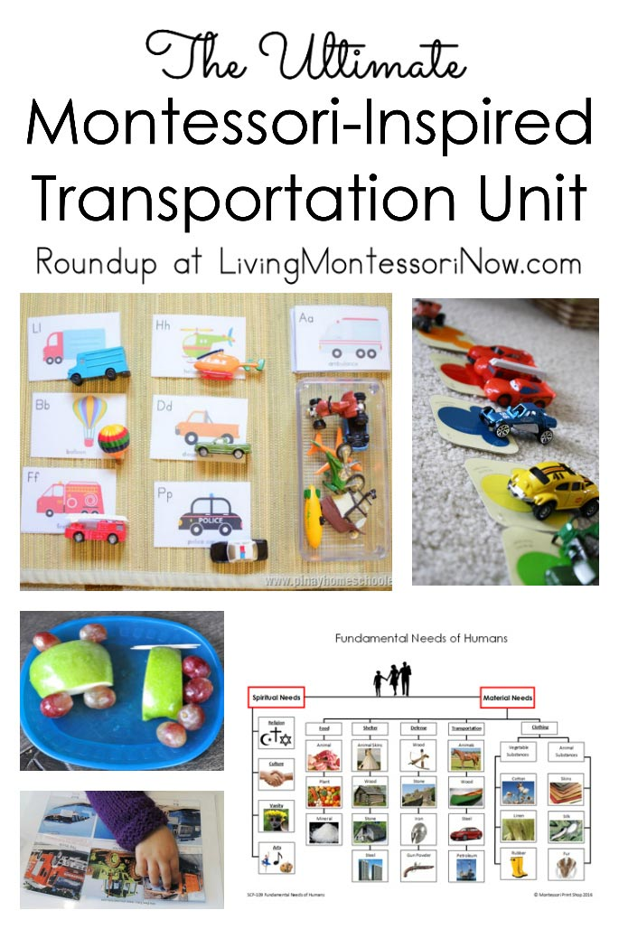 Montessori Inspired Transportation Unit