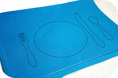 Hand Drawn Placemat (Photo from Simply Montessori)
