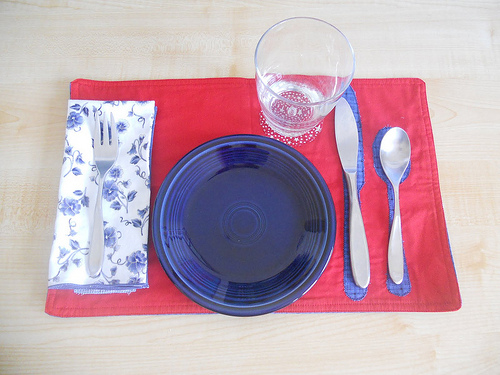 Table Setting Activity (Photo from Counting Coconuts)