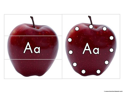 A is for Apple Printables from 1+1+1=1