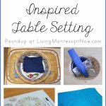 Montessori Monday – Table Setting