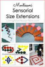 Montessori Monday – Sensorial Size Extensions