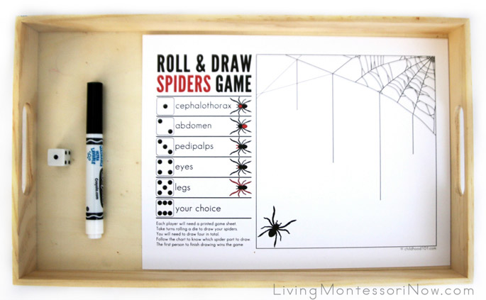 Roll and Draw Spiders Game