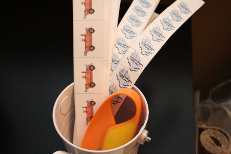 Paper Cutting Strips (Photo by Julie at The Adventures of Bear)
