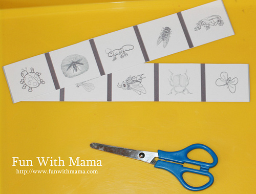 Bug Strip Cutting (Photo from Fun with Mama)
