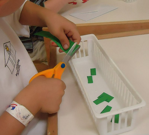 Paper Cutting Activity (Photo from To the Lesson!)